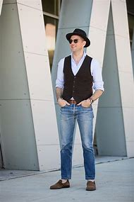 Men's Casual Vest with Jeans