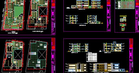 engineering  architecture plan autocad dun centre communautaire