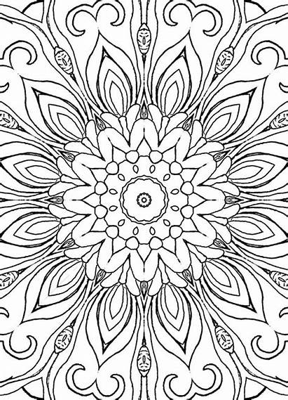 Coloring Pages Mandalas Adults Patterns Designs Geometric