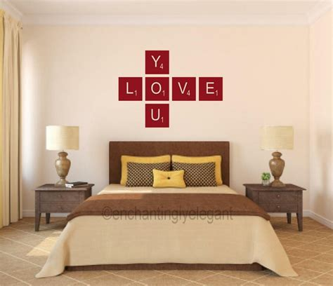 Decorate lampshade and wall with words. Love You Scrabble Tiles Vinyl Decal Wall Sticker Words Letters Teen Room Decor | eBay