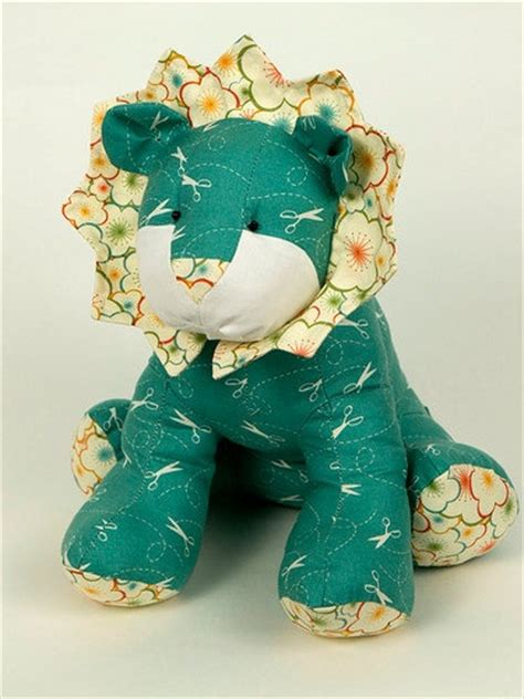 lion pattern plush toy sewing pattern  meylah