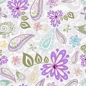 Beautiful purple flower pattern background vector Free ...