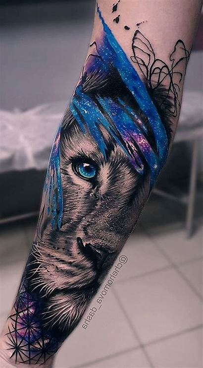 Tattoo Watercolor Temporary Tattoos Lion Sleeves Sleeve