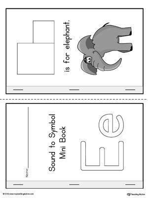 Letter E Cut-And-Paste Printable Mini Book (Color