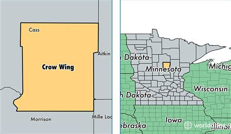 Crow Wing County, Minnesota / Map Of Crow Wing County, Mn