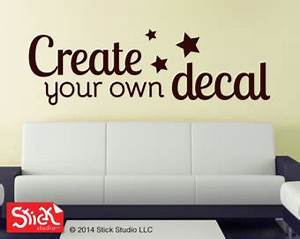 yellow background create your own vinyl wall decals brown With design your own vinyl lettering