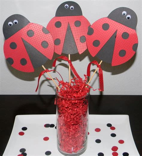 Ladybug Centerpieces Lady Bug Centerpiece Picks Set Of 3