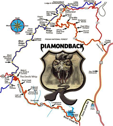 diamondback motorcycle  sportcar route