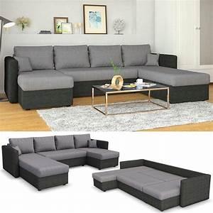 Couch L Form Grau : xxl ecksofa mit schlaffunktion 290 x 185 cm grau real ~ Markanthonyermac.com Haus und Dekorationen