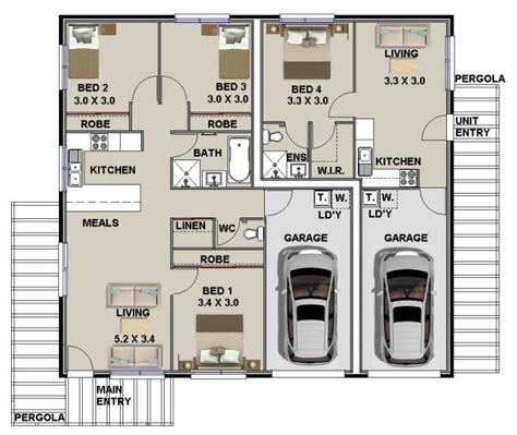 photo of new home floor plans ideas dual key floor plans australian dual key home plans
