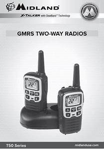 Midland Radio T55a Gmrs    Frs User Manual T50 Owner S