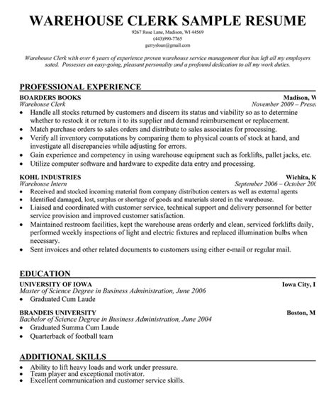 Warehouse Manager Resume Pdf by Sle Cover Letter Warehouse Operator