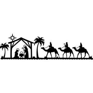 silhouette design store view design  nativity scene