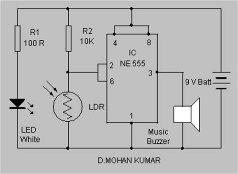 Led Circuit Diagram Letter by Electronic Mail Box Hobby Circuits And Projects