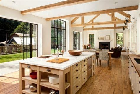 cuisine bois nature et d馗ouverte découvrir la beauté de la cuisine ouverte