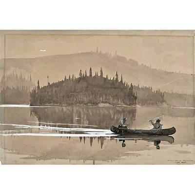 Winslow Homer (1836–1910) Two Men in a Canoe 1895