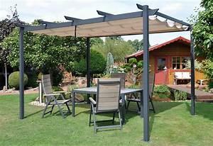 Sonnensegel Pfosten Holz : leco pavillon flachdachpergola 3 x 4 m 300 x 400 cm ~ Michelbontemps.com Haus und Dekorationen