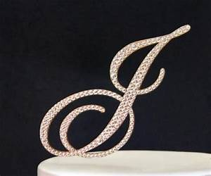 Monogram GOLD Wedding Cake Topper In Any Letter A B C D E ...