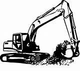 Excavator Coloring Digger Diggers Truck Backhoe Dump Construction Template Draw Colornimbus sketch template