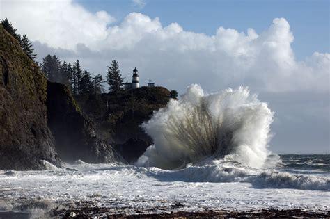 Big Waves Big Waves Lighthouse And  Ee  Cape Ee