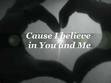 i believe in you and me by houston lyrics