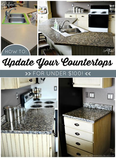 budget kitchen makeover diy faux marble countertops 1000 images about giani granite countertop paint on