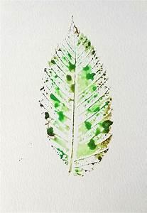 9X6 Green Leaf Watercolor Painting OOAK