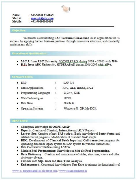 Sql Server Dba Fresher Resume by Professional Curriculum Vitae Resume Template For All Dba
