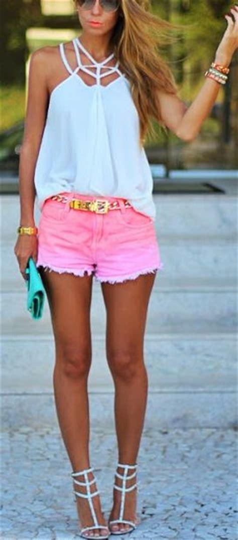 sweet  feminine pink outfit ideas  lovely women
