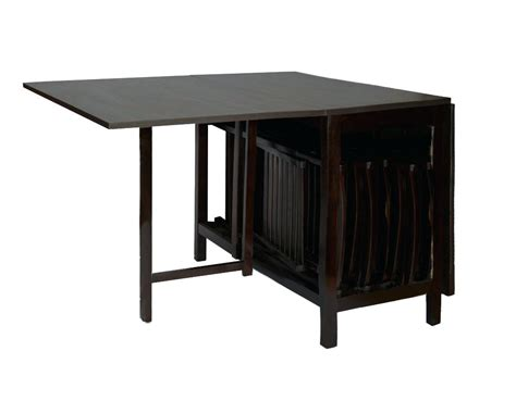 table with chairs that store inside gateleg table with chair storage bradcarter me