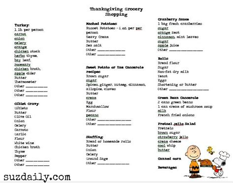 thanksgiving list of foods thanksgiving suz daily