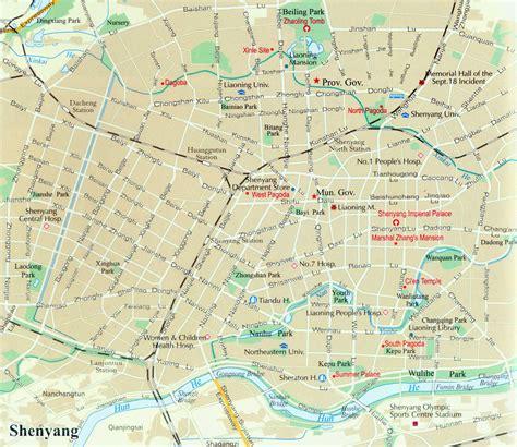 Shenyang City Map, Map Of Shenyang, China, Shenyang Travel Map