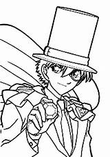 Coloring Detective Thief Conan Phantom Kid Action Adventure Coloringsun Printable Cartoon Getdrawings Sheet Getcolorings Button Through sketch template