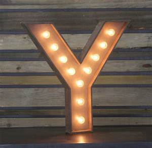 "Edison Marquee Letter - ""Y"" Town & Country Event Rentals"