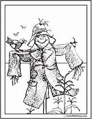 scarecrow coloring page - Scarecrow Coloring Pages