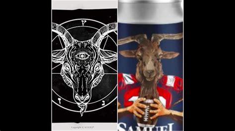 Illuminati Goat by Tom Brady Illuminati Satanic Baphomet Goat At