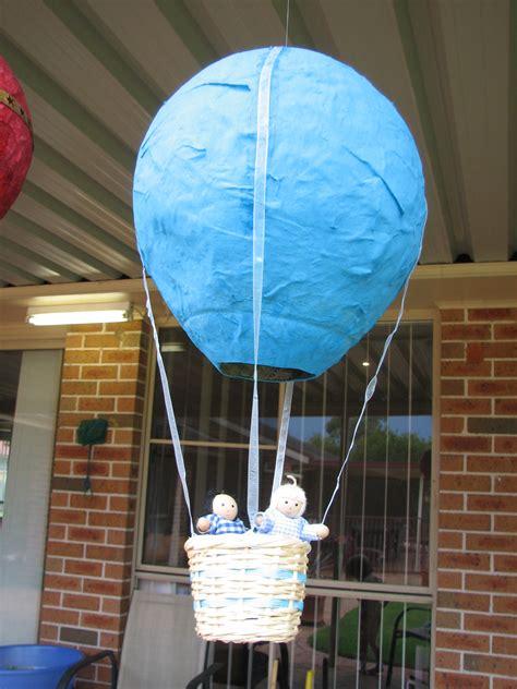 day paper mache hot air balloons