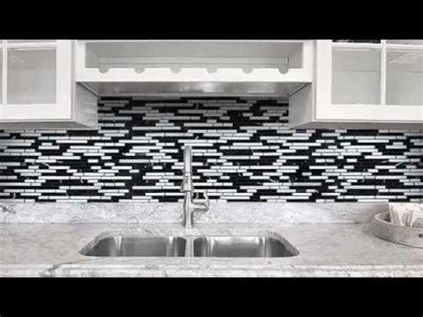 black gray  white backsplash tile youtube
