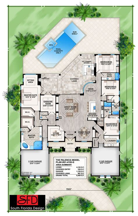 Palencia (G1 4155 G) House Plan offered by South Florida