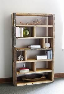 diy rustic pallet bookshelf