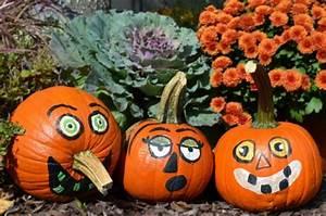 Kürbis Bemalen Gesicht : angemalten k rbisgesichter f r helloween helloween pinterest k rbisgesichter k rbis und ~ Markanthonyermac.com Haus und Dekorationen