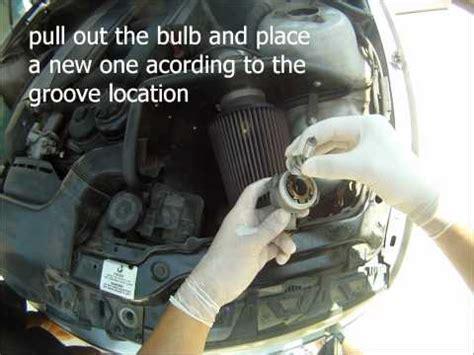 bmw e46 99 05 headlight bulb change