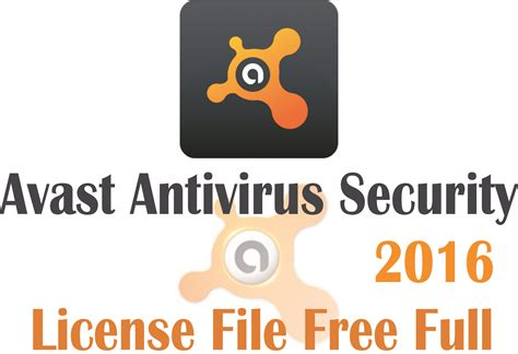 Avast Antivirus Security 2016 License File Free Full
