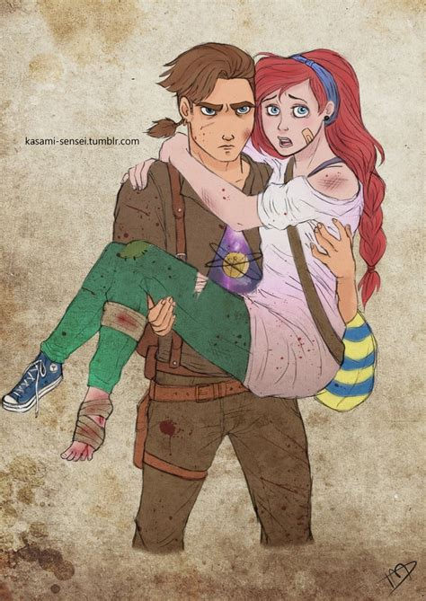 Jim And Ariel Walking Dead Disney Art POPSUGAR Love Sex Photo