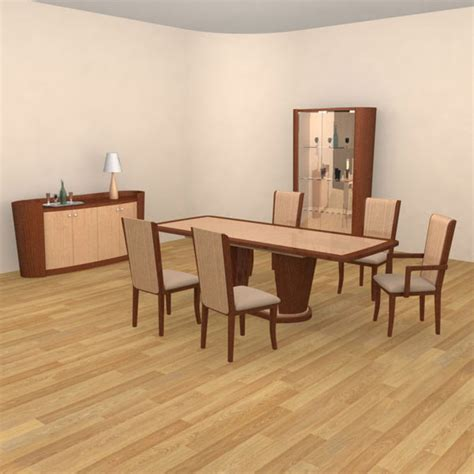 Dining Room 2 Set 3d Model Hum3d