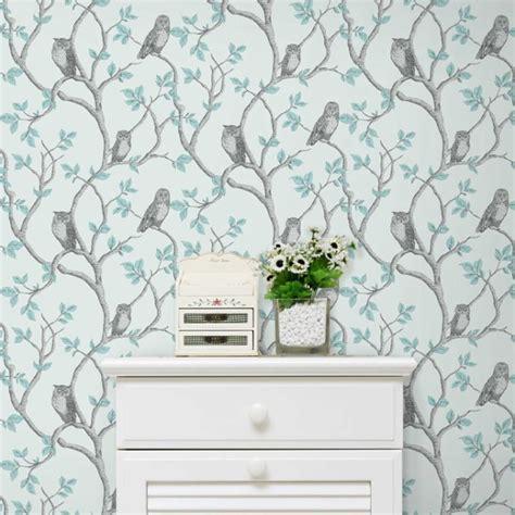 Fine DÉcor Teal Duck Egg Wallpaper  Shabby Chic Owl