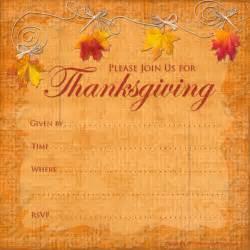 Free Printable Thanksgiving Invitation Template