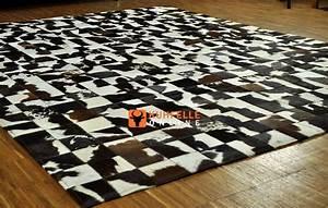 Kuhfell Imitat Teppich : kuhfell teppich braun weiss patchwork 240 x 180 cm kuhfelle online ~ Frokenaadalensverden.com Haus und Dekorationen