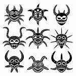 Puerto Taino Rico Vejigante Tattoos Mask Indian