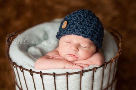 baby boy hat newborn baby boy crochet hat chunky blue